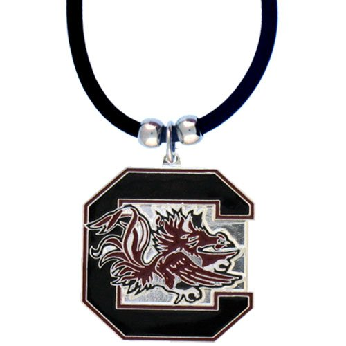 NCAA South Carolina Fighting Gamecocks Rubber Cord Necklace