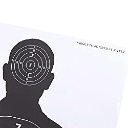 Blue Panda 50-Sheet Targets for Shooting - Paper Shooting Targets, Range Silhouette Target for Firearms, Rifles, Pistols, BB Guns, Airsoft Shooting Practice - 17 x 25 Inches