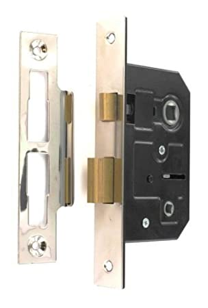 Standard Bathroom Lock 63mm 2 12 Inch Nickel Plated Amazonco