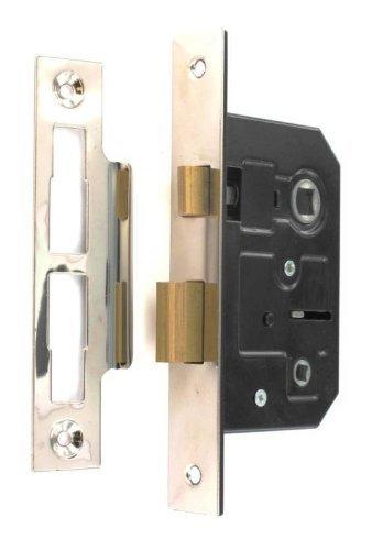 Standard Bathroom Lock 63mm (2, 1/2 Inch) Nickel Plated Frelan Hardware