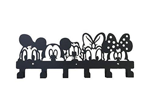 YOURNELO Cute Ironwork Cartoon Characters Animals Art Wall Mounted Decorative Coat Rack Hooks (Disney) ()
