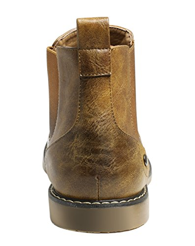 PartyEight Mens Ankle Casual Chelsea Boots Brown 7 by PartyEight (Image #5)