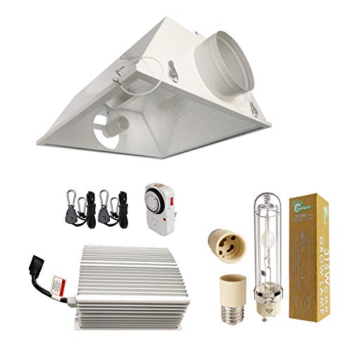 Cool Sun Air Cooled Reflector - Hydro Crunch 315-Watt CMH Ceramic Metal Halide Grow Light System with 6 in. Large Air Cooled Reflector