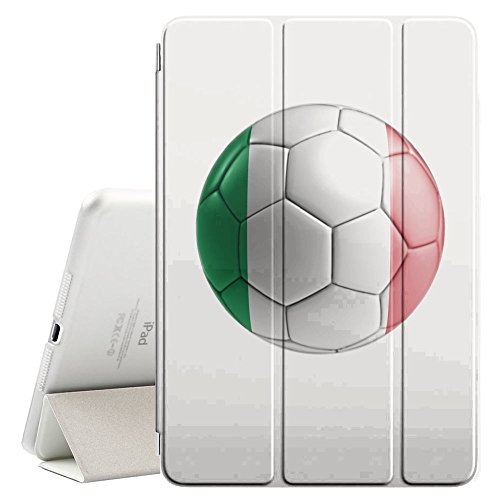 STPlus Italy Italian Soccer Football Ball Flag Smart Cover With Back Case + Auto Sleep/Wake Funtion + Stand for Apple iPad Air 2