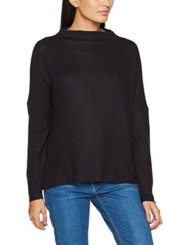 Only Onlkleo L/S Plain Pullover Knt Noos, Suéter para Mujer Negro (Black Black)