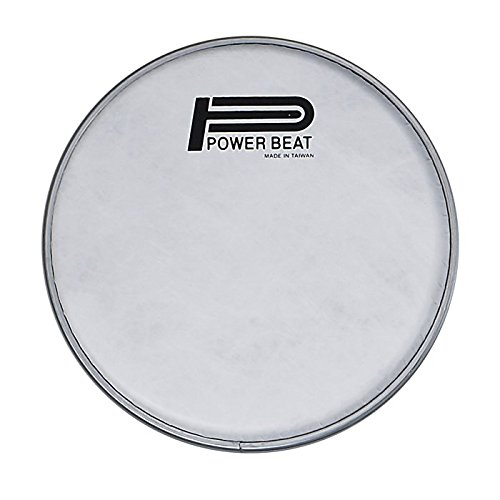 Power Beat Drum Head Imitation Lamb Suede Drum Head 0.188mm Collar /0.5''- For Darbuka/Doumbek Sombaty size (White Fabric) … (8.75'' - Classic Size) by Power Beat