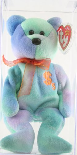 Ty Beanie Baby Billionaire 5 Bear, Autographed by Ty Warner, Ty Employee Excl...