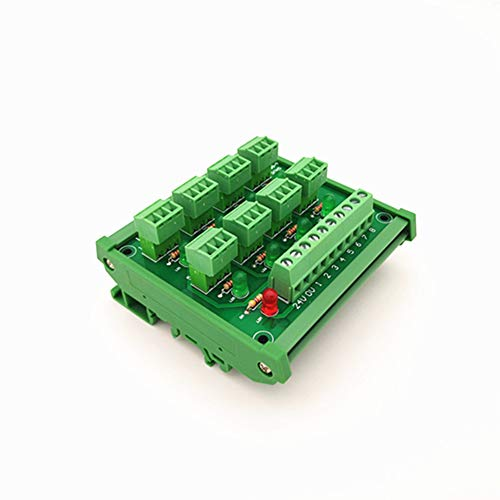 - DIN Rail Mount PLC 8 channel PNP input screw terminal block IO photoelectric proximity switch sensor terminal block.