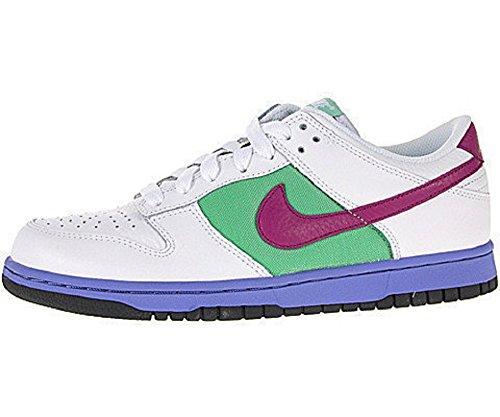 Nike Kvinner Dunk Lav Hvit / Loganbær-turmalin Oss 10,5 M