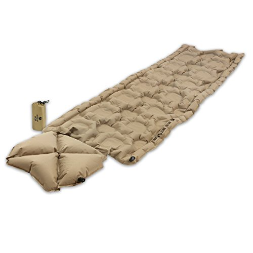 Klymit Inertia O Zone Ultralight Sleeping Pad with Pillow, RECON Coyote-Sand