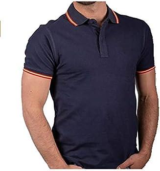 DH Camiseta Polo con Bandera de España en Cuello y puños. Tejido de Piqué de 100% Algodón. Varias Tallas. (Talla L): Amazon.es: Ropa y accesorios