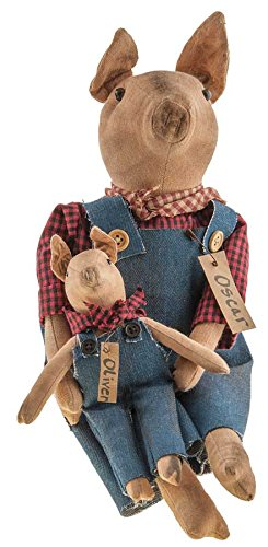 CWI Gifts Oscar & Oliver Piggy Dolls, 16'' Tall, Multicolor