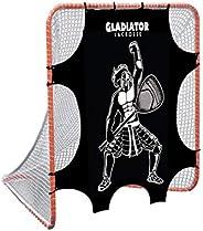 Gladiator Lacrosse Goal Target Shooter Beginner Intermediate Level - Gladiator Design, Black and White