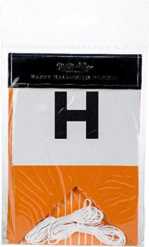 My Mind's Eye Orange and White Happy Halloween Banner