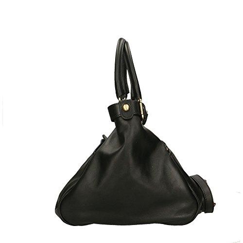 38x28x18 cuir Sac en Noir main Aren Made véritable in Cm à Italy femme q4UvqxBwX