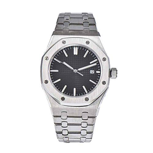 Sapphire Corgeut 41mm Black Sterile Dial Stainless Steel Bracelet Miyota Automatic Movement Men's Watch (Steel Sterile Stainless)