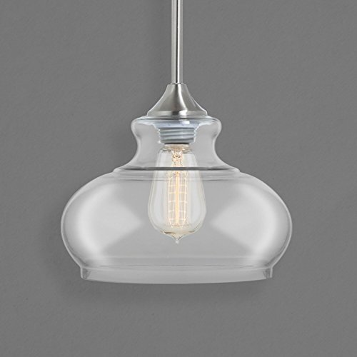 Ariella Ovale Kitchen Pendant Light Fixture Brushed Nickel Linea Di Liara Ll P322 Buy