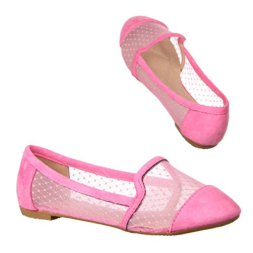 Ital-Design - Mocasines de Material Sintético para mujer Rosa - rosa