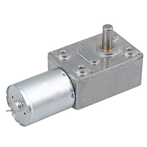 BQLZR DC 12V 0.6RPM Square Low Speed High Torque Turbo Worm Geared Motor Right Angle Gear Motor by BQLZR