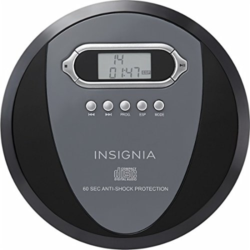 Portable CD Player Headphone & (Earphone NEW) Included - Skip Protection for CD, CD-R, CD-RW Black/Charcoal by Insignia Products (Image #2)