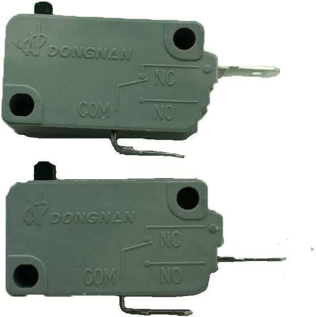 2PCS New Microwave Oven KW3A Door Micro Switch 125V/250V 16A Normally Open and Normally Close
