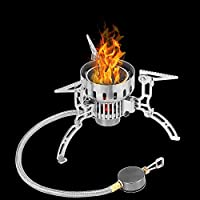 Portable Folding Gas Stove Burner for Hiking Picnic Igniter Camping Gas Stove JW