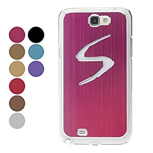 SUMCOM LED Light S Pattern Hard Case for Samsung Galaxy Note 2 N71000 (Assorted Colors) , Black