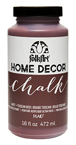 FolkArt 34877 Home Decor Chalk Furniture & Craft Paint in Assorted Colors, 16 ounce, Tuscan Red