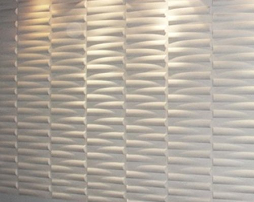 BABEE Decorative 3D Wall Panels for TV Background, 5 Panels 13 Sq Ft, 12 Panels 32 Sq Ft