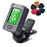 Guitar Tuner Clip-On Tuner Digital Electronic Tuner Acoustic with LCD Display for Guitar