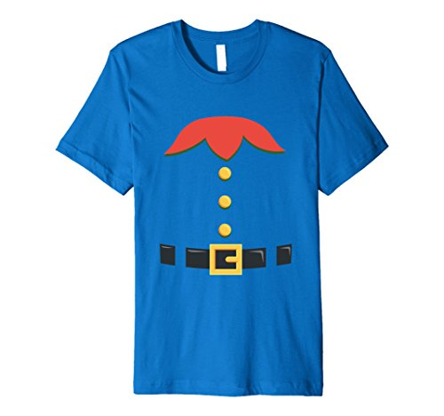 Mens Dwarf Elf Gnome Halloween Christmas Costume Premium T-Shirt 2XL Royal (Easy Frat Halloween Costumes)