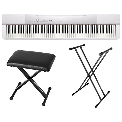 Casio PX150 White 88 Key Weighted Digital Piano w/Power Supp
