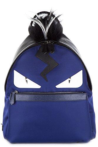Fendi men's rucksack backpack travel stondato occhi mostro blu
