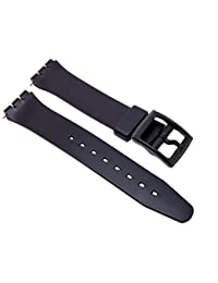 Swatch Replacement Synthetic Plastic Black 17mm Watch Strap