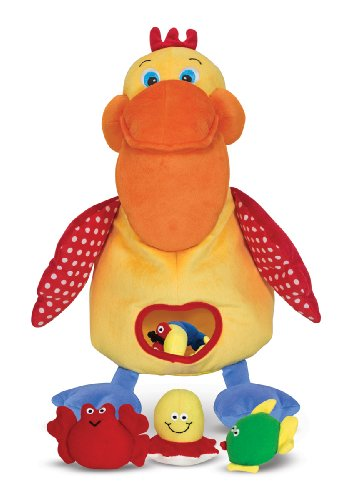 [Melissa & Doug K's Kids Hungry Pelican Soft Baby Educational Toy] (Group Costumes For 3 Guys)
