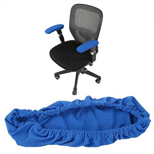 Funda para reposabrazos de silla de oficina, elastica comoda extraible para el hogar oficina y bar color azul