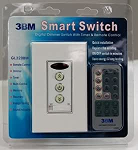 3bm Remote Control Light Dimmer Switch And Timer Wall