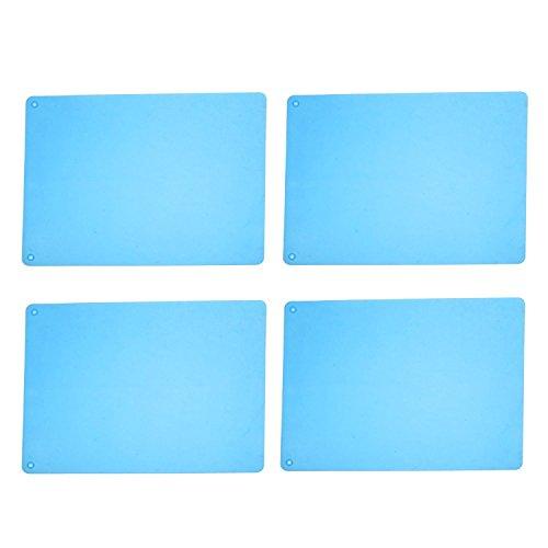KLOUD Bishopric Pack of 4 Silicone Waterproof Anti-skidding Table Mats / Placemats / Baking Mat / Heat Insulation Mats (4pcs light crestfallen)