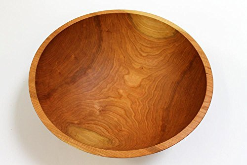 17 Inch Solid Cherry Wood Salad Bowl - Holland Bowl -