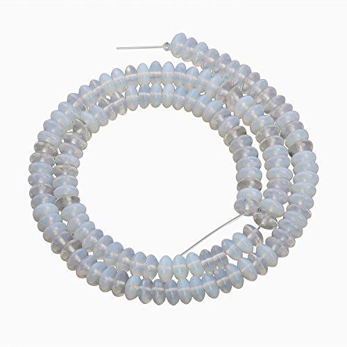 Opalite Glass Beads - Linsoir beads [Opalite Glass Beads] Popular Moonstone Opalite Beads Moonstone Quartz Beads Moonstone Opals Spacer Beads for Jewelry Making 3mmX6mm 130pcs/strand