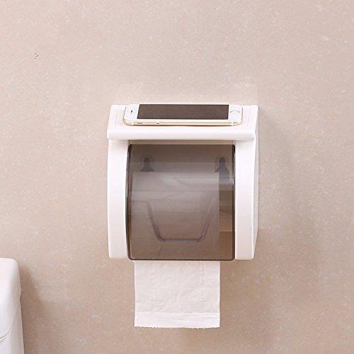 ZHAS El baño de toalla de papel perforado Cajas Estancas wc pared Soporte para rollos de papel higiénico de aspiración...