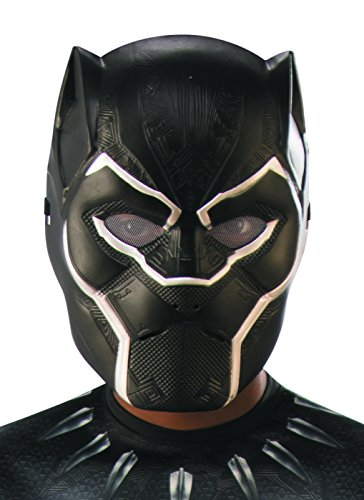 Rubie's Boys Black Panther Half-Mask Costume, As Shown, One Size