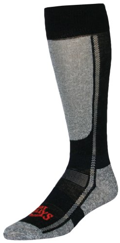 2007 Ski Boots (Hot Chillys Men's Lo Volume Sock (Black/Heather, X-Large))