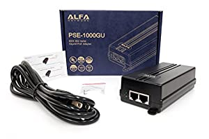ALFA PSE-1000GU Gigabit 802.3at 30W PoE Injector (UL certificated)