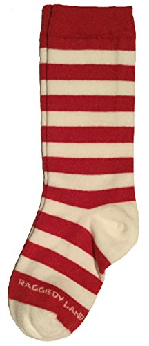 Red & White Stripe Knee High Socks Toddler Baby 1T 2T Raggedy Ann Rag Doll Elf Candy Cane - Knee Candy Socks High Stripe