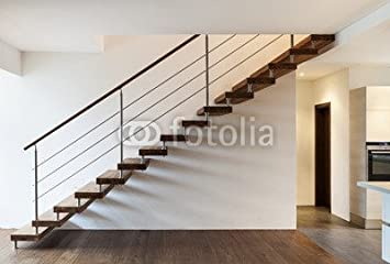 Compra Beautiful Modern altillo, escalera y ventana (48697426), madera 3 mm, 90 x 60 cm en Amazon.es