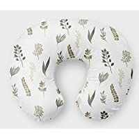 Fern Nursing Pillow Slipcover Greenery Nursery Baby Gift w/ 100% NonToxic USA Cotton/Minky