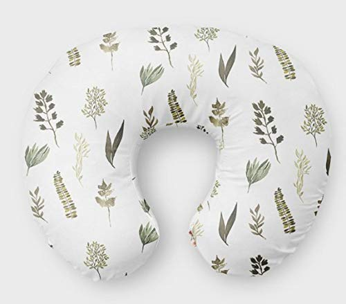 Fern Nursing Pillow Slipcover Greenery Nursery Baby Gift w/ 100% NonToxic USA Cotton/Minky ()