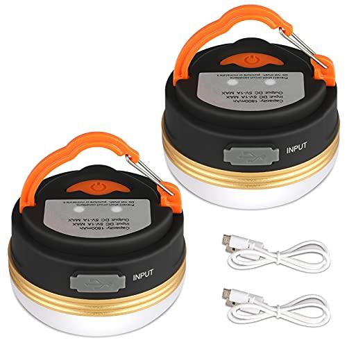 Yizhet Led-campinglamp, oplaadbaar via USB, mini-magneet, campinglamp, led-campinglantaarn, USB-tentverlichting voor…