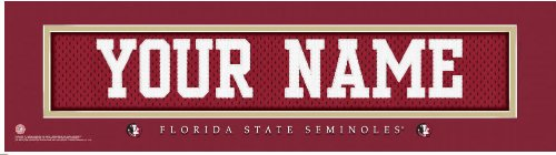 NCAA Jersey Stitch Print Florida State Seminoles Personalized Framed by You've Been Framed